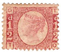 (I.B-CK) QV Postal : ½d Rose-Red (plate 10) SG 48 - 1840-1901 (Victoria)