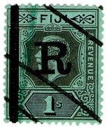 (I.B) Fiji Revenue : Stamp Duty 1/- (1914) - Fiji (...-1970)