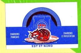 BUVARD&Blotter Paper: Charbon Français Est Et Nord Le Chat - Electricity & Gas