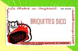 BUVARD&Blotter Paper: Briquettes SICO  Charbons LE CHAT Signé Micha - Electricity & Gas