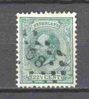 Netherlands 1872 NVPH 25 Canceled  (2) - Period 1852-1890 (Willem III)