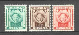 Netherlands 1924 NVPH 141-143 MH (2) - Neufs