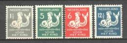 Netherlands 1929 NVPH 225-228 MH - Neufs