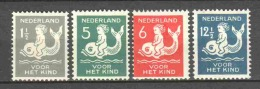 Netherlands 1929 NVPH 225-228 MH - 1891-1948 (Wilhelmine)
