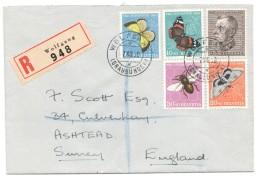 1950  Lettre Avion Recommandée Pour L'Angleterre - Pro Juventute
