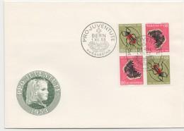 1953  FDC Non Adressé  Bloc De 2 Paires Tête-bêche  Z41 I - Briefe U. Dokumente