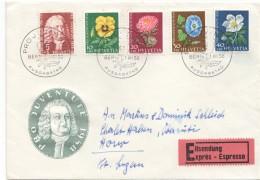 1958  FDC Exprès Pour La Suisse - Briefe U. Dokumente