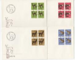 1967  Jeu De 5 FDC Timbres Seuls Et Blocs De 4 - Pro Juventute