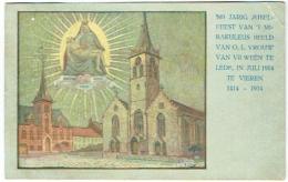 Lede. Illustrateur Claeys. 500 Jarig Jubelfeest Van 't Mirakuleus Beeld Van O.L.Vrouw Van VII Weën Te Lede, 1914. - Lede