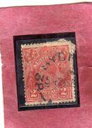 AUSTRALIA 1914 1924 KING GEORGE RE 2p USATO USED OBLITERE' - 1913-36 George V: Heads