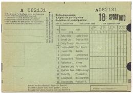 SCHEDINA TOTOCALCIO INGLESE 1960 - ASTON VILLA - ARSENAL - MANCHESTER - LIVERPOOL - ECC. - Calcio