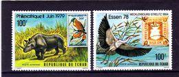 TCHAD  1979    MNH   - PHILEXAFRIQUE -   OISEAUX  /  BIRDS    -   2  VAL - Vögel