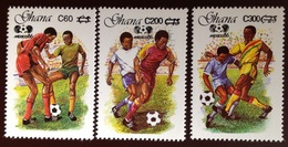 Ghana 1989 World Cup Surcharge Set MNH - Ghana (1957-...)