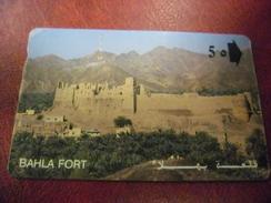 TELECARTE Sultanat D' OMAN - 50 - BAHLA FORT - Oman