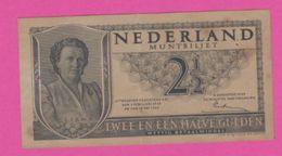 PAYS BAS - 2 1/2 Gulden Du 18 Mei 1945  - Pick 71 VF+ - Paesi Bassi