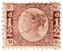 (I.B-CK) QV Postal : ½d Rose-Red (plate 11) SG 48 - 1840-1901 (Victoria)