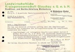 A8579 - Glauchau - Landwirtschaftliche Kreisgenossenschaft Rechnung Abt. Waldenburg 1951 - Deutschland