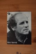 LEO FERRE CARTE POSTALE ORIGINALE.AVEC DISCOGRAPHIE - Objets Dérivés
