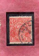 AUSTRALIA 1914 1924 KING GEORGE RE 1 1/2p USATO USED OBLITERE' - 1913-36 George V: Heads