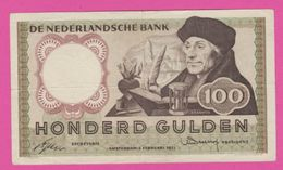 PAYS BAS - 100 Gulden Du 02 Februari 1953 - Pick 88 XF+ - [2] 1815-… : Kingdom Of The Netherlands