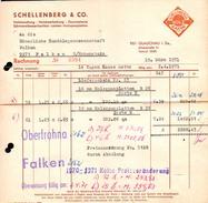 A8582 - Glauchau - Schellenberg & Co Holzhandlung - Rechnung 1971 Nach Limbach Oberfrohna - Germany