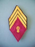 LOSANGE MODELE 1945 / SERGENT-CHEF SSA / SERVICE DE SANTE DES ARMEES - Patches