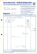 A8585 - Heiligenstadt - Martin Durstewitz - Rechnung 1967 Nach Limbach Oberfrohna - Deutschland