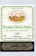 Entre-Deux-Mers 1986 - Jean Degaves - Bordeaux