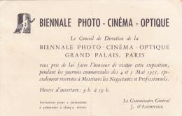 Le Conseil De Direction De La Biennale Photo, Cinéma, Optique, Grand Palais Paris,  Commissaire Général, J. D'Autrevaux - Non Classificati
