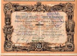 LOT : 3 X COMPAGNIE DES CHEMINS DE FER ANDALOUS 1890 - Ferrocarril & Tranvías