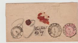 NDP160 /NORDDEUTSCHER-POSTBEZIRK ;Neustaedttel, Paketbegleitbrief 1869. MiNr. 16, 18, 25 (Innendienst Recht Gut Gezähnt) - North German Conf.