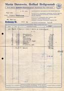 A8587 - Heiligenstadt - Martin Durstewitz - Besen Und Bürsten - Rechnung 1969 Nach Limbach - Deutschland