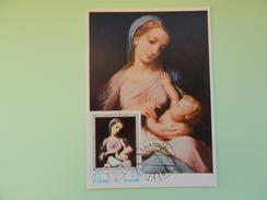 CARTE MAXIMUM CARD LA VIERGE MARIE ET LE NOUVEAU NE PAR CORREGGIO FUJEIRA - Religious