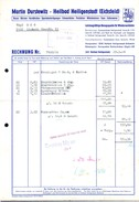 A8592 - Heiligenstadt Eichsfeld - Martin Durstewitz - Besen Bürsten - Rechnung 1966 Nach Limbach - Deutschland