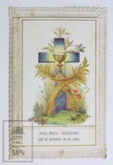 Antique Paper Lace Holy Card - French Editor. L. Turgis - Virgin Mary - Printed In Paris Circa 1930's - Imágenes Religiosas