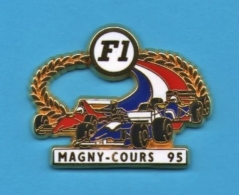1 PIN'S //   ** FORMULE 1 ** CIRCUIT MAGNY-COURS ** 95 ** Fond Blanc ** . (JFG MIAMI) - F1