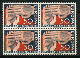 LIECHTENTEIN ( EUROPA 1962 ) : Y&T N°  366   X  4  TIMBRES  NEUFS  SANS  TRACE  DE  CHARNIERE , A  SAISIR . - 1962