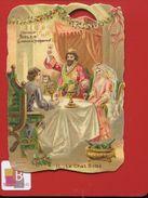 Poulain Chromo Légèrement Gaufrée  Thème Conte Le Chat Botté Toast  CHAT BOTTE N 11 Festin CARABAS  Texte Au Dos - Poulain