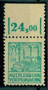 SBZ. Abschiedsserie, Nr. 39 Z A, Oberrand, Postfrisch **, Geprüft BPP - Sowjetische Zone (SBZ)