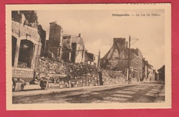 Phillipeville - La Rue De Namur 1940 ??? ... Maisons Détruites ( Voir Verso ) - Philippeville