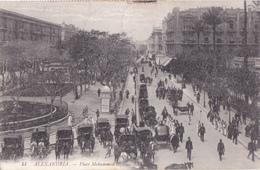 Alexandria - Place Mohammed Ali - 1909 - Calèches - L.L. N°44 - Alexandrie