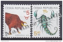 Czech Republic - Tcheque 1999 Yvert 229-30 Definitive, Zodiac Signs - MNH - Czech Republic
