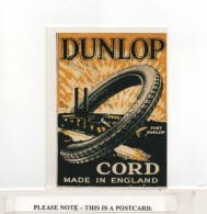 Postcard - Art - Dunlop Cord - Made In England - UK Poster Stamp C1912 - VG - Unclassified