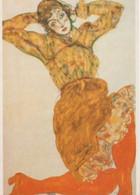 Postcard - Art - Egon Schiele -  Woman With Orange Stockings C1914 - VG - Postcards
