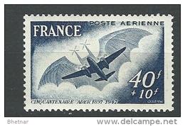"""FR Aerien YT 23 """"  Avion D'Ader """" 1947 Neuf** - 1927-1959 Mint/hinged"""