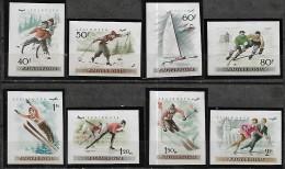 Hungary Hongrie 1955 Championnats Europe Patinage Sur Glace Skate Icing, 8 Val Poste Aérienne Mnh Non Dentelés - Skateboard