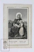 Antique Paper Lace Holy Card - Sainte Anne - Saint Anne - Edited In Paris By L. Turgis, Circa 1930's - Imágenes Religiosas