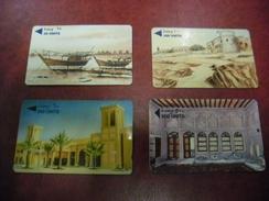 TELECARTE BAHRAIN Bahrein - Lot Série De 4 Télécartes 25,100,200,500 Units ! - Bahreïn