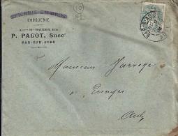 AUBE - 10 -  BAR S AUBE    TàD De Type A2 De 1906 - Manual Postmarks