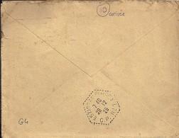 AUBE - 10 -  ESTISSAC / CP N°1    TàD De Type G4   De 1929     EN ARRIVEE - Manual Postmarks